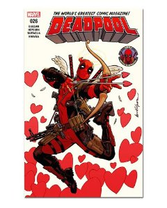 Ímã Decorativo Capa de Quadrinhos Deadpool - CQM32