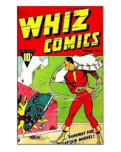 Ímã Decorativo Capa de Quadrinhos Shazam - CQD131