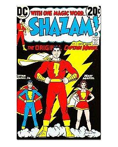 Ímã Decorativo Capa de Quadrinhos Shazam - CQD140