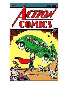 Ímã Decorativo Capa de Quadrinhos Superman - CQD156