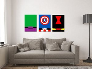 Kit 3 Placas Decorativas MDF Avengers - KMDF24
