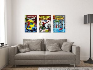 Kit 3 Placas Decorativas MDF Capas Spider-Man - KMDF30