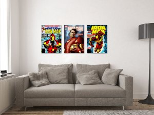 Kit 3 Placas Decorativas MDF Capas Iron Man - KMDF32