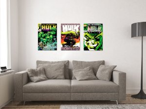 Kit 3 Placas Decorativas MDF Capas Hulk - KMDF34
