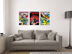 Kit 3 Placas Decorativas MDF Capas X-Men - KMDF39