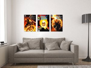 Kit 3 Placas Decorativas MDF Capas Ghost Rider - KMDF42