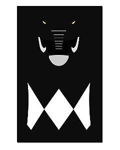 Ímã Decorativo Ranger Preto - Power Rangers - ITOK11