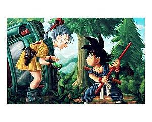 Ímã Decorativo Goku e Bulma - Dragon Ball - IDBZ19