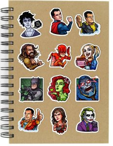 Adesivos DC Comics Set B - 12 unid