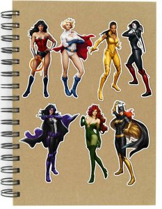 Adesivos DC Girls Set A - 7 unid