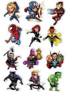 Ímãs Decorativos Marvel Comics Set A - 12 unid