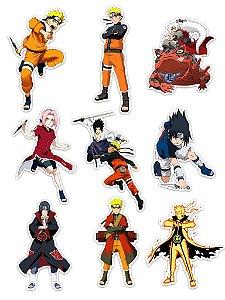 Ímãs Decorativos Naruto Set B - 9 unid