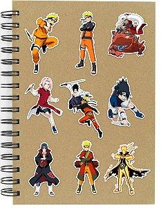 Adesivos Naruto Set B - 9 unid