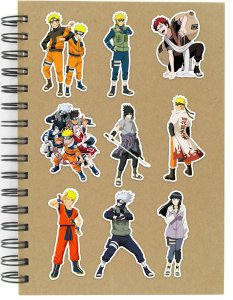 Adesivos Naruto Set C - 9 unid