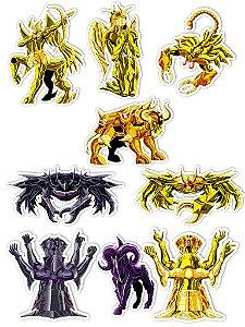 Ímãs Decorativos Cavaleiros do Zodíaco Set I - 9 unid