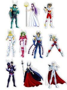 Ímãs Decorativos Cavaleiros do Zodíaco Set M - 10 unid