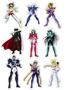 Ímãs Decorativos Cavaleiros do Zodíaco Set N - 9 unid