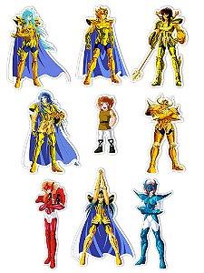 Ímãs Decorativos Cavaleiros do Zodíaco Set O - 9 unid