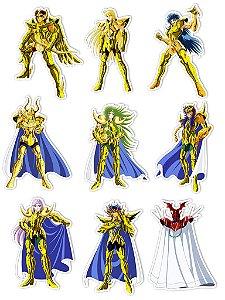 Ímãs Decorativos Cavaleiros do Zodíaco Set P - 9 unid