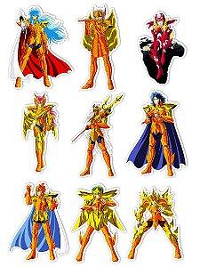 Ímãs Decorativos Cavaleiros do Zodíaco Set Q - 9 unid