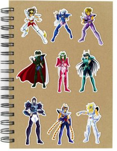Adesivos Cavaleiros do Zodíaco Set N - 9 unid
