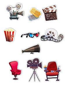 Ímãs Decorativos Cinema Set E - 10 unid