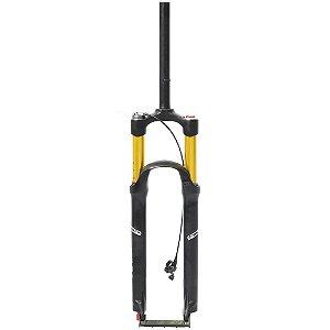 Garfo Suspensão Cly Stealth 29 Com Trava e Ajuste a Ar Freio a Disco Ar e Óleo 1850g Preto/Dourado