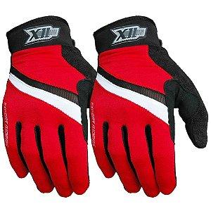 Luva X11 Hunter MTB para Ciclismo Fechada M Preto/Vermelho