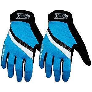 Luva X11 Hunter MTB para Ciclismo Fechada P ZA021 Preto/Azul