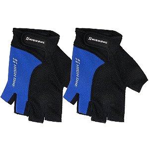 Luva High One Liberty para Ciclismo M Preto/Azul