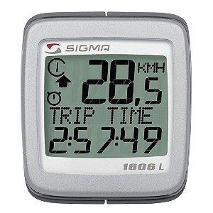 Ciclocomputador Sigma para Bike 16 Funções 1606L Preto