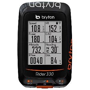 Ciclocomputador Gps Bryton Rider 330E - 72 Funções