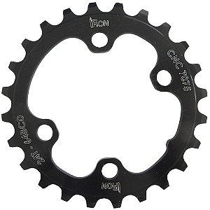Coroa Iron Indexada BCD64 24T Assimétrica Preto
