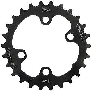 Coroa Iron Indexada BCD64 26T Assimétrica Preto