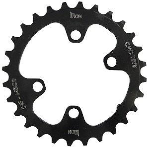 Coroa Iron Indexada BCD64 28T Assimétrica Preto