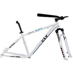 Kit Quadro Bicicleta Cly A2B 27.5x17 com Suepensão Spinner 300 Branco