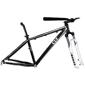 Kit Quadro Bicicleta Cly Z5P 27.7x17 com Suspensão Spinner 300 Preto/Branco
