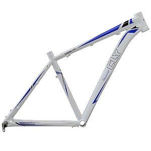 Quadro Bicicleta Cly Serie A1 27.5x17 em Alumínio Branco/Azul