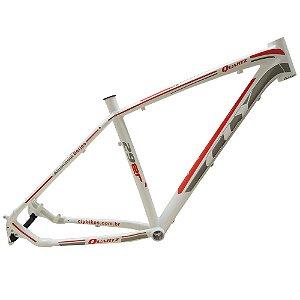 Quadro Bicicleta Cly Quartz 27.5x19 em Alumínio Branco/Vermelho