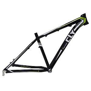 Quadro Bicicleta Cly Z4 27.5x17 em Alumínio Preto/Branco