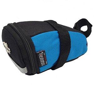 Bolsa Venzo de Selim VZBLS0001 Preto/Azul