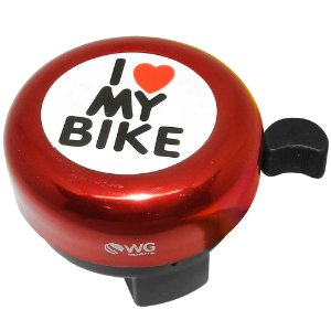 Buzina WG Sports Trim Trim I Love My Bike Vermelho