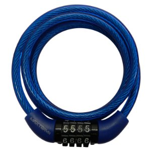 Cadeado Max Trava para Bicicleta com Segredo 6mmx1m MXTRA0012 Azul