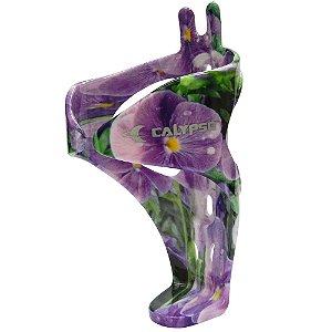 Suporte de Caramanhola Calypso em Nylon Violeta Tropical (Violeta com Grafismo Floral)
