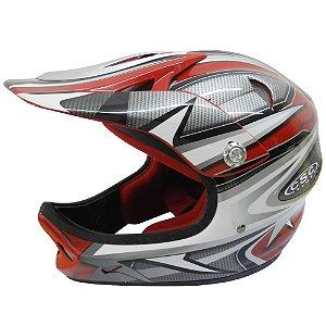 Capacete Calypso para Ciclismo Attack Pro Full Race XL Vermelho