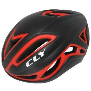 Capacete Cly In Mold Road/Speed para Ciclismo M Preto/Vermelho