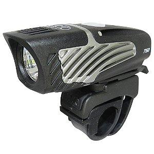 Farol de Bicicleta Niterider Lumina Micro 750 USB Preto/Cinza