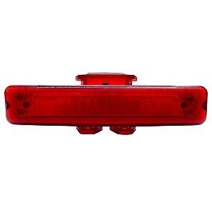 Pisca Traseiro Cly Components 30 Leds USB para Bicicleta Preto/Vermelho