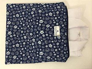 Porta Jaleco Azul e Branco de Pegadas