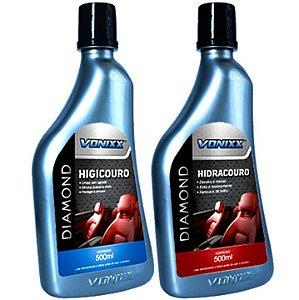 Kit Higienização e Hidratação de Couro - Higicouro e Hidracouro - Vonixx